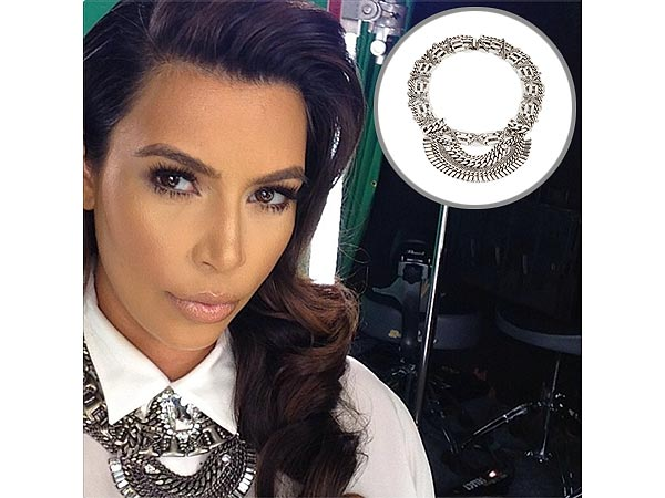 Kim Kardashian Instagram Dannijo Germaine and Morgan Necklaces