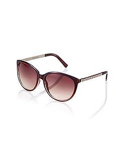 Nine West Red Gradient Plastic Cat Eye Sunglasses
