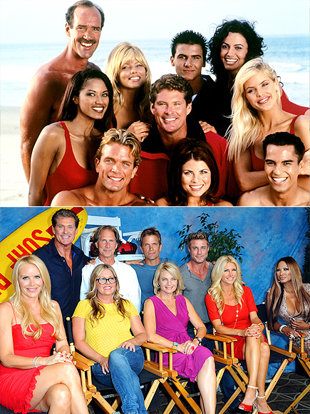 THE CAST OF BAYWATCH photo | David Hasselhoff, Nicole Eggert