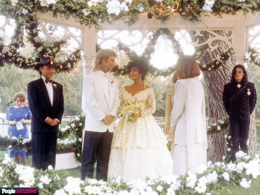 Elizabeth Taylor & Michael Jackson at Her Final Wedding: Never-Before-Seen Photos