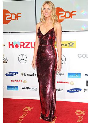 Gwyneth Paltrow pink Prada gown