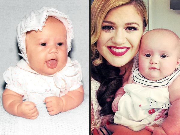 Kelly Clarkson River Rose baby photo