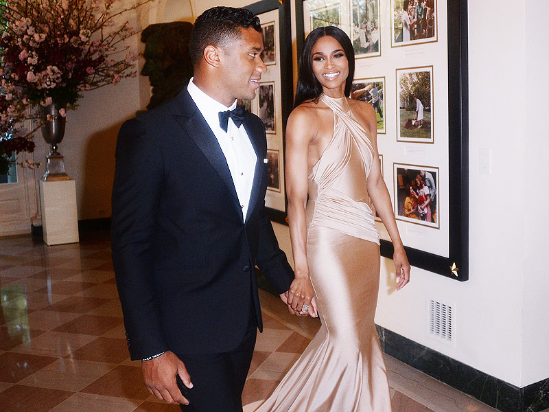 Ciara and Russell Wilson Hold Hands at White House State Dinner| politics, Barack Obama, Ciara, Michelle Obama, Russell Wilson