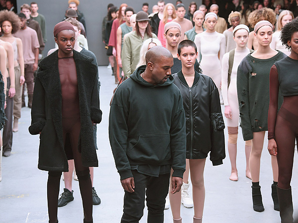 Kanye West fahsion week Kylie model