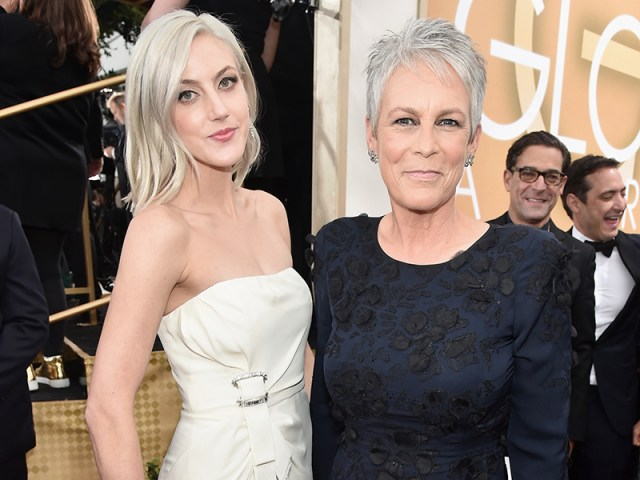 Jamie Lee Curtis Brings Daughter Annie as Red Carpet Date| Golden Globe Awards 2016, Golden Globes, Scream Queens, TV News, Christopher Guest, Jamie Lee Curtis, Janet Leigh