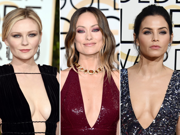 Kirsten Dunst Olivia Wilde Golden Globes 2016