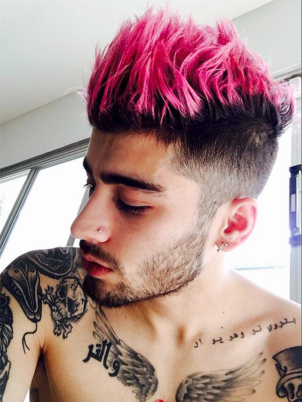 Zayn Malik pink hair