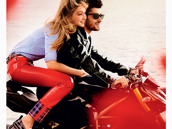 Zayn Malik and Gigi Hadid pose in <em>Vogue</em> May editorial