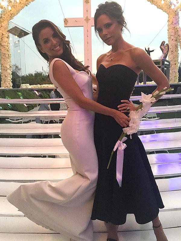 Eva Longoria wedding Victoria Beckham
