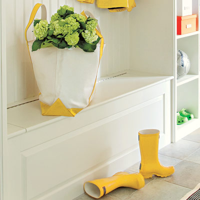 mudroom with easy care surfaces