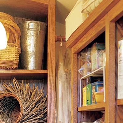 u shaped closet pantry with specialized storage
