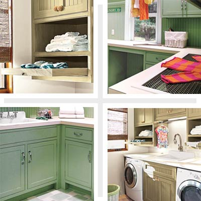 laundry rooms with storage