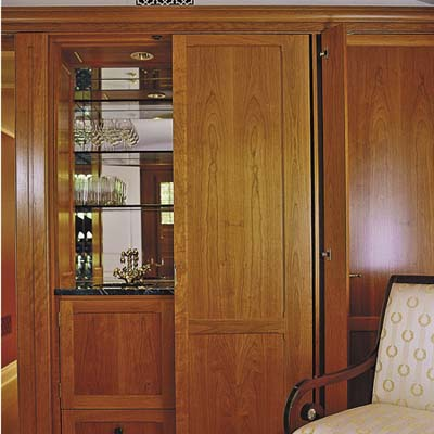 built in bar cabinet