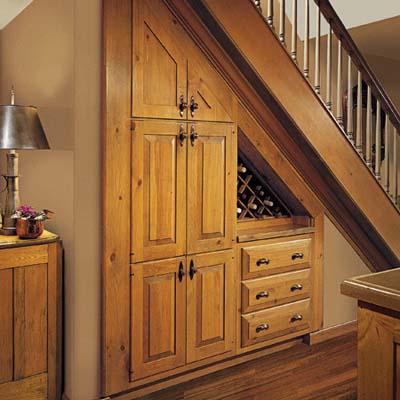 built in wall wine cellar