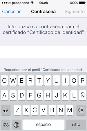 Como Instalar Certificado Digital iPhone iPad - Contraseña