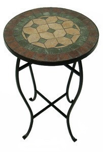mosaic top small outdoor coffee table