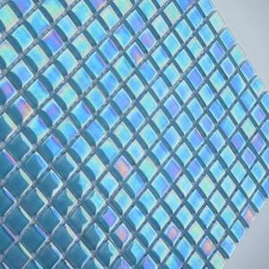 blues pressed glass mosaic swimming