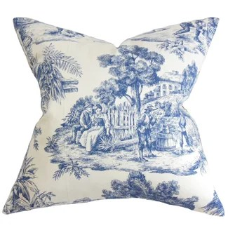 The Pillow Collection Evlia Toile Pillow
