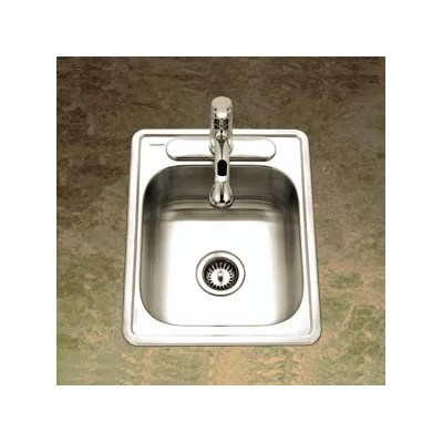 Ada Compliant Topmount Single Bowl Gauge Kitchen Sink