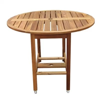 atlantic outdoor folding dining table i amp reviews on Circular Folding Dining Table id=23937
