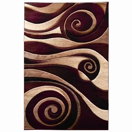 DonnieAnn Company Sculpture BurgundyBeige Abstract Swirl