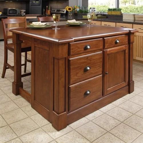 Home Styles Aspen Piece Kitchen Island Set