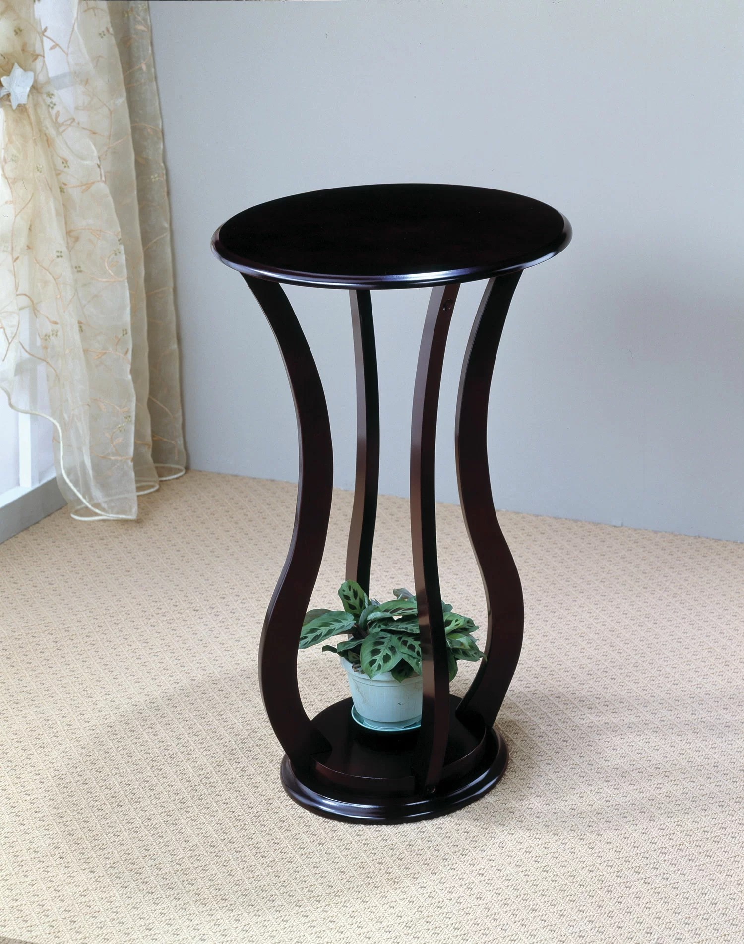 Pedestal Plant Stand Table Cherry Wood Furniture Display