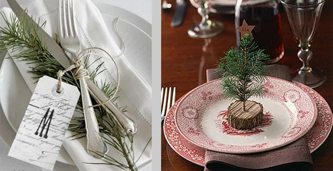 Rustic Christmas Table Decorating Ideas