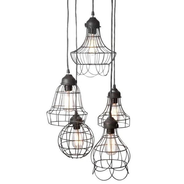 Wire 5 Light Pendant