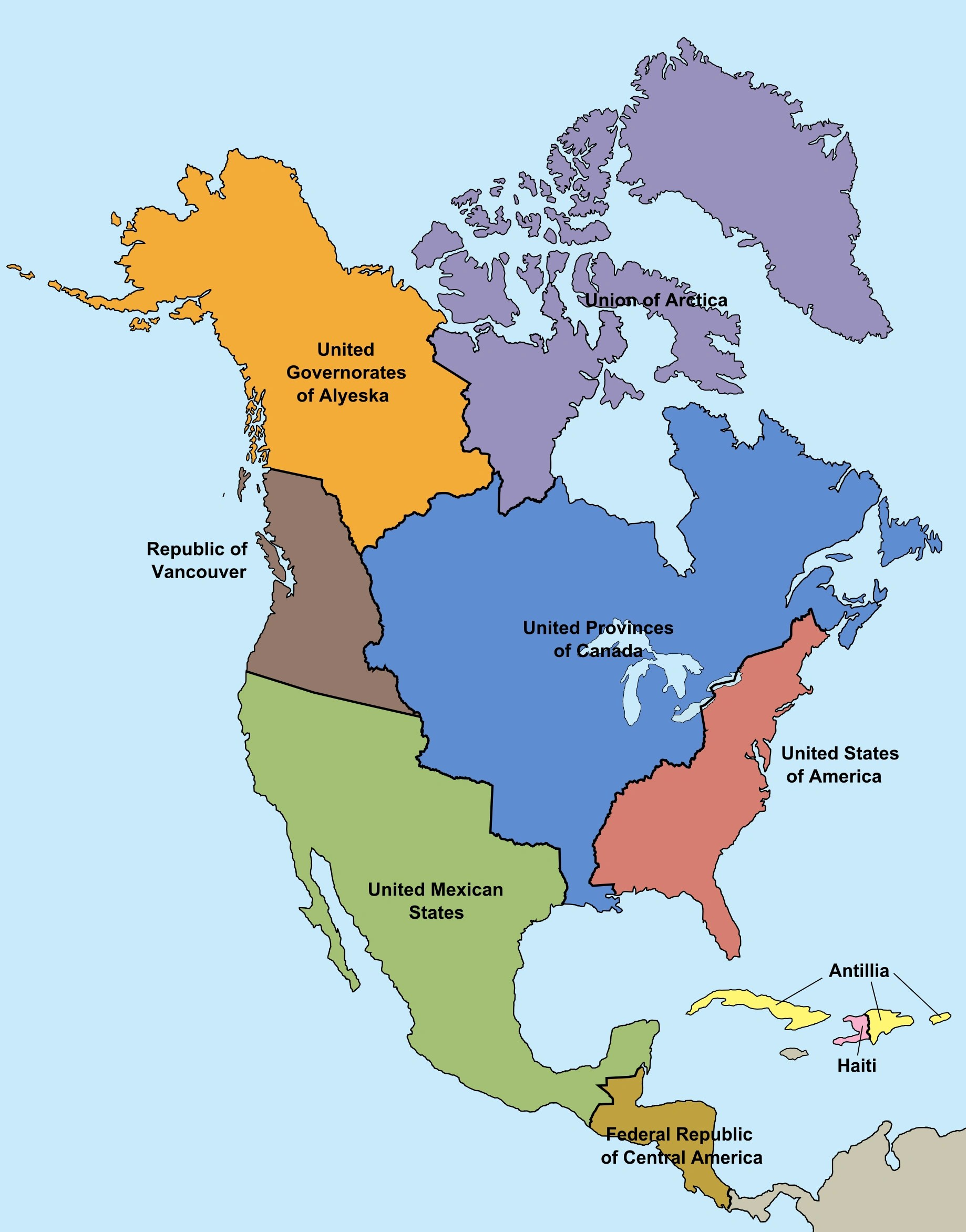 Boundary Map Of North America