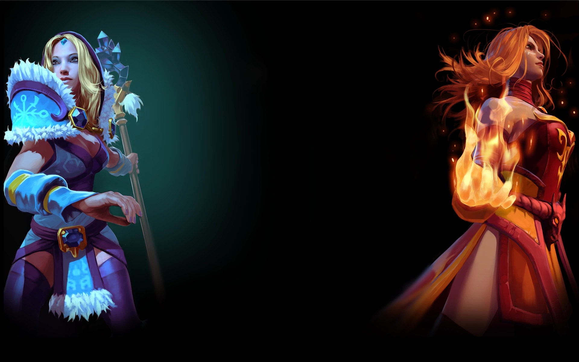 Image Dota 2 Background Crystal Maiden And Linapng