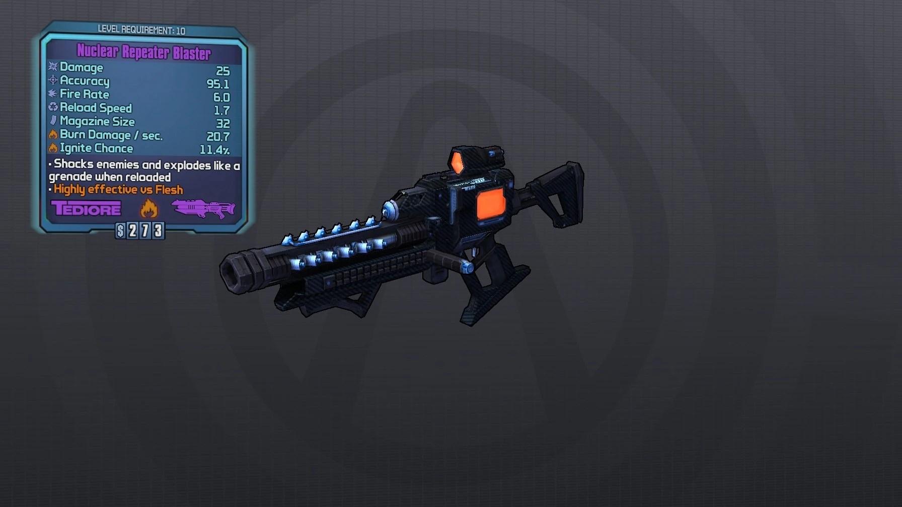 Blaster Laser Borderlands Wiki Walkthroughs Weapons Classes Character Builds Enemies