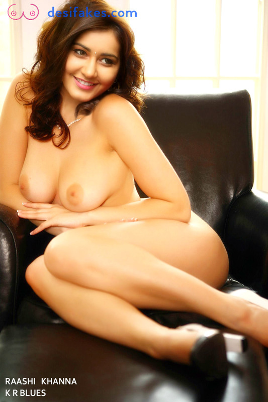 Raashi Khanna Nude Boobs  in the sofa