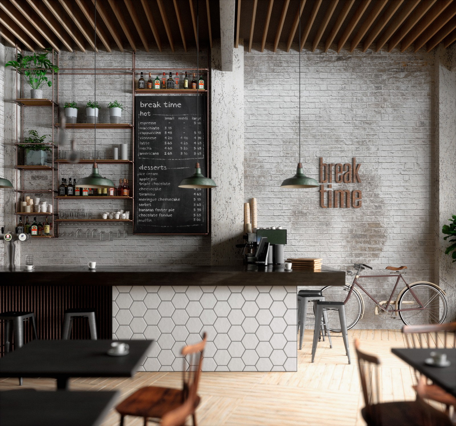 best design cafe wall design on-sale cheapest price for club  OUYEE