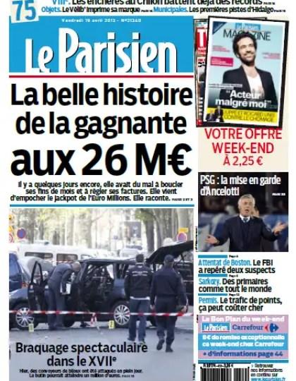 Le Parisien Vendredi 19 Avril 2013