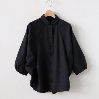 コードパッカリングブラウス(シャツ型) #BLACK [TH2050004] _ toHu | トフ