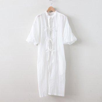 靄然のBALLOON SLEEVE DRESS #ホワイト [TLF-220-op001-b] _ the last flower of the afternoon   ザラストフラワーオブジアフタヌーン