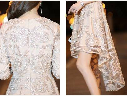 韓国ワンピース ドレス 前上がりドレス ブラック