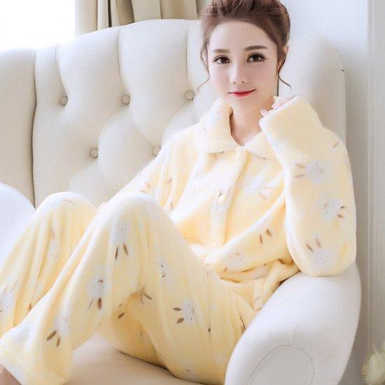 韓国パジャマ モコモコ もこもこ ふわふわ 秋 冬 うさぎちゃん