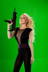 Lindsay Lohan cleavagy in promos for movie Machete - Hot Celebs  Home