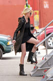 Taylor Momsen leggy in small black dress (braless and see-through!)  on the Gossip Girl set in Brooklyn, NY - Hot Celebs Home