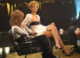 Rihanna cleavagy and leggy as she attends the recording of the Norwegian TV show 'Skavlan' as a guest, in Oslo - Hot Celebs Home