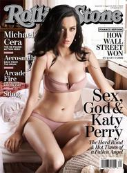 Katy Perry in her underwear showing her breasts on cover of Rolling Stone Magazine - Hot Celebs Home