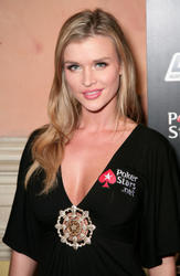 Joanna Krupa cleavagy as she attends Celebrities Come Together at Pokerstars.net NAPT Charity Tournament at the Venetian Resort Hotel and Casino - Hot Celebs Home