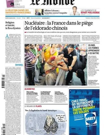 Le Monde Jeudi 10 Janvier 2013