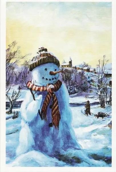 Jos joskus kaikesta huolimatta lähetän joulukortteja, lähetän joka vuosi kaikille kolme tällaista.