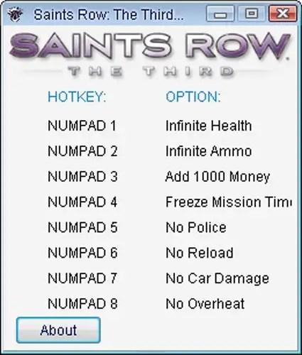 Saint Row 3 Cheat Codes For Xbox 360