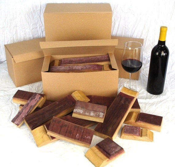 Napa Valley Red Wine Barrel pieces for BBQ and Grilling - Shipping Included -100% recycled