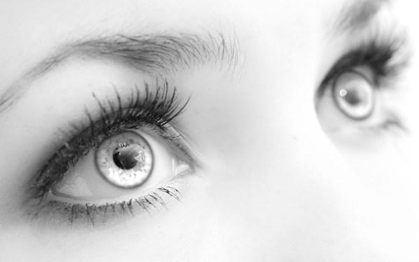 Обои глаза, взгляд, девушка, чёрно-белое картинки на ...