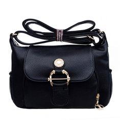 Women PU Leather Elegant Handbag Leisure Shoulder Crossbody Bag